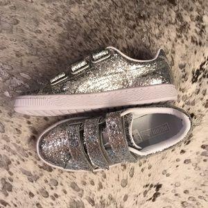 Puma silver glitter sneakers brand new 37 6.5